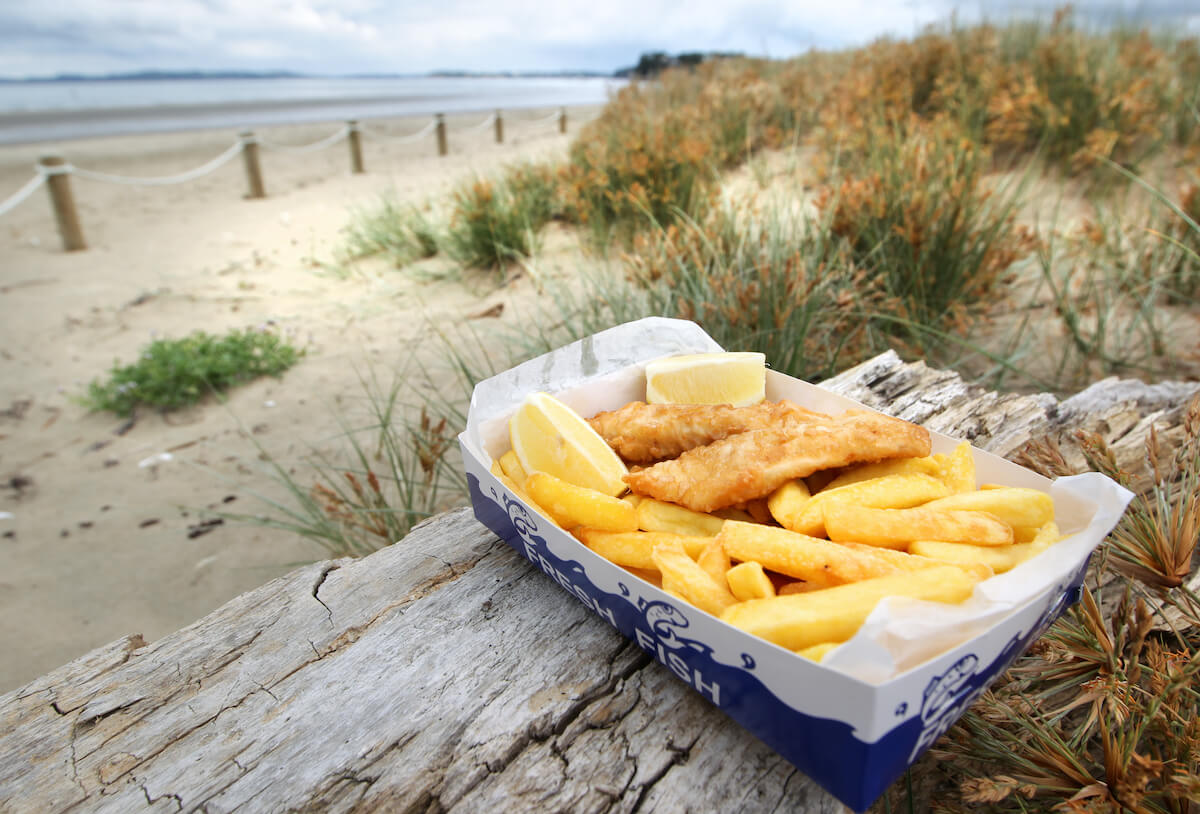 Fish and Chips at the beach